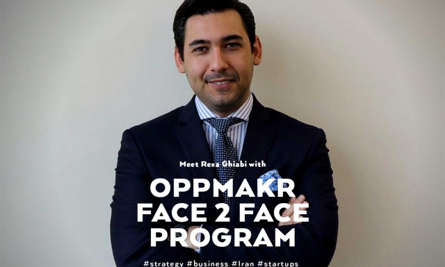 Reza Ghiabi to Meet with Entrepreneurs and Future Leaders via OPPMAKR F2F Program