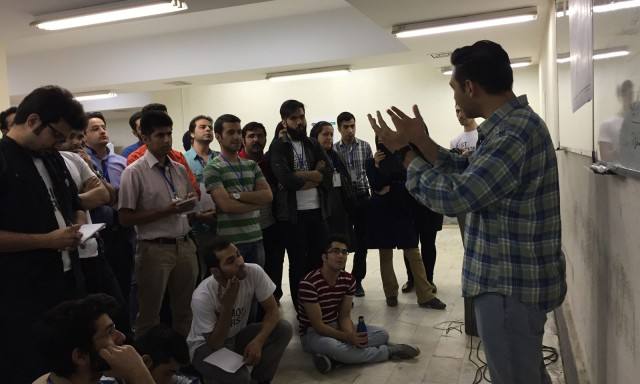 Reza Ghiabi at Startup Weekend Social innovation Tehran, Featured by Digiato