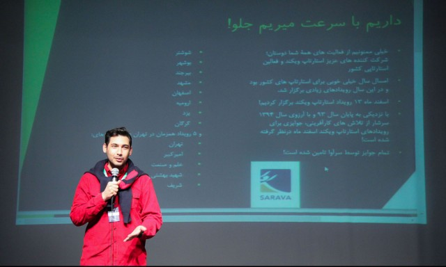 Helping Community by Mentoring at Sharif University's Startup Weekend