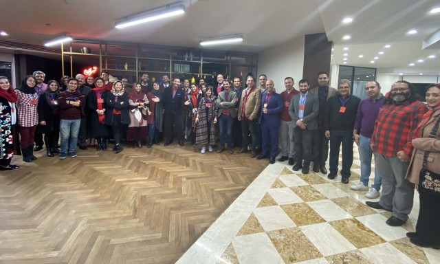 Partners, clients, and friends celebrated Yalda with Reza Ghiabi