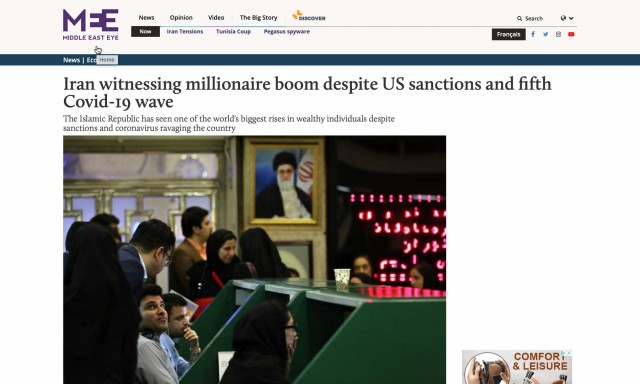 Iran Witnessing Millionaire Boom: Read Reza Ghiabi's Comments on the Middle East Eye